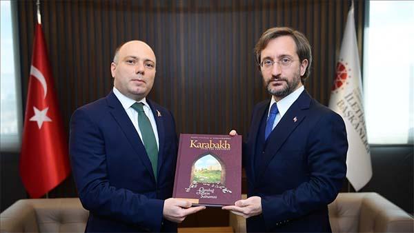 Altun, Azerbaycan Kültür Bakanı Anar Kerimov ile görüştü