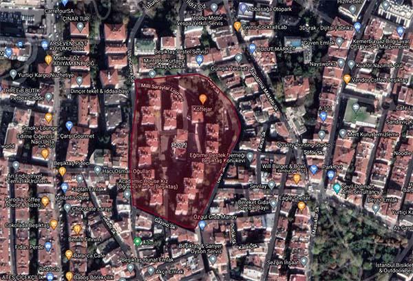İstanbul/Beşiktaş'ta arsa satış karşılığı gelir paylaşımı ihalesi