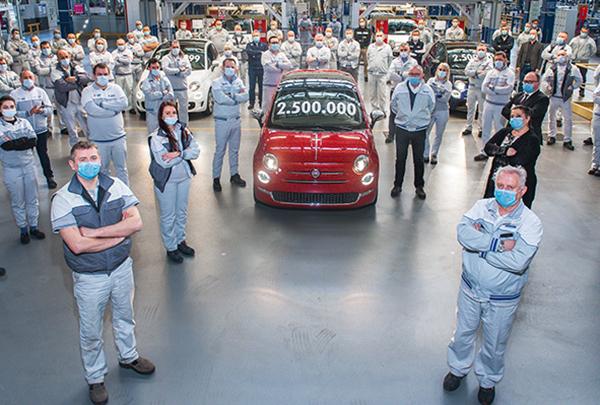 Fiat 500, 2.5 milyon adetlik üretime ulaştı