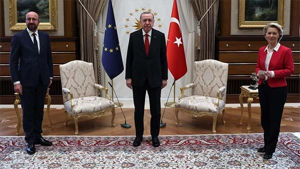 Cumhurbaşkanı Erdoğan AB Başkanlarını kabul etti