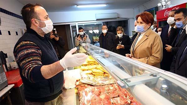 Akşener yeni yılda esnaf ziyaretlerine Ankara'nın ilçelerinden başladı
