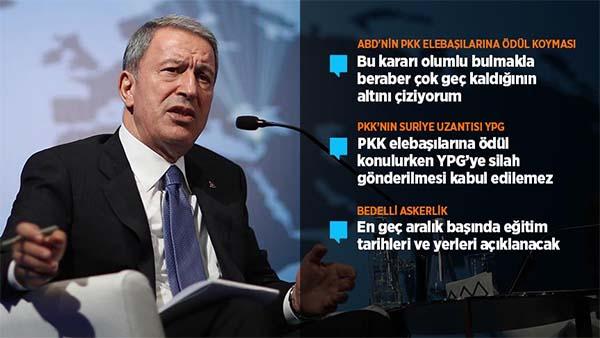 Milli Savunma Bakanı Akar: YPG'nin PKK'dan hiçbir farkı yok