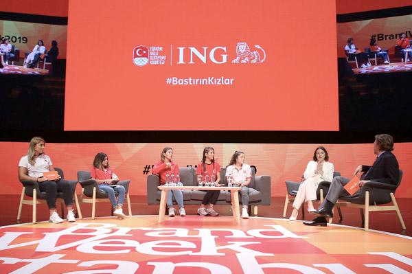 ING Türkiye, 'olimpik kızların' hikayelerini sahneye taşıdı