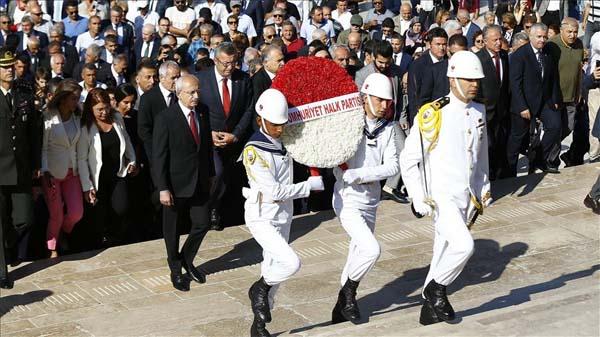 CHP heyeti Anıtkabir'i ziyaret etti
