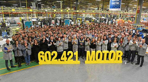 Oyak Renault, 2019'a rekor motor üretimiyle girdi