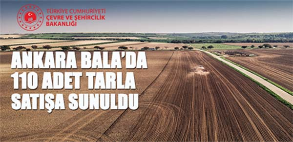 Ankara Bala'da 110 adet tarla satışa çıkarıldı