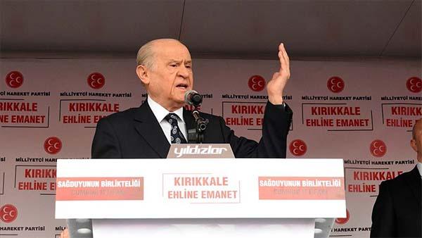 Bahçeli: Türkiye düşmanlarının yancılığına zillet ittifakı heves etmiştir