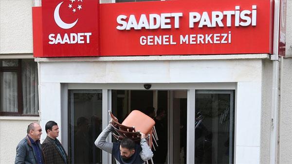 Saadet Partisinden tahliye açıklaması
