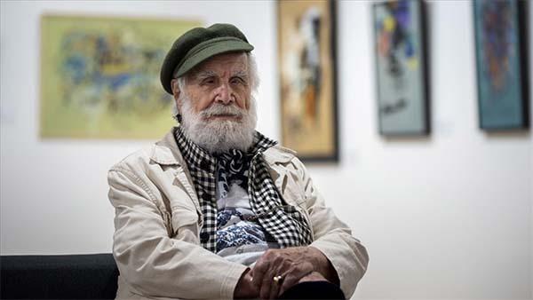 93 yaşındaki sanatçı Etem Çalışkan'ın 'Aşk Olsun' sergisi ziyarete açıldı