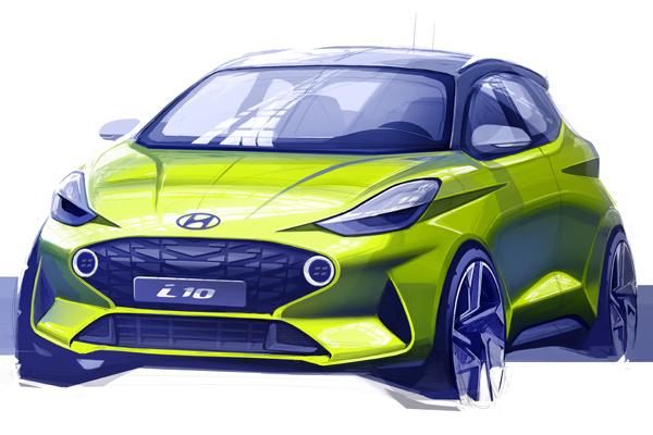 Hyundai yeni i10'un seri üretim öncesi ilk çizimlerini paylaştı