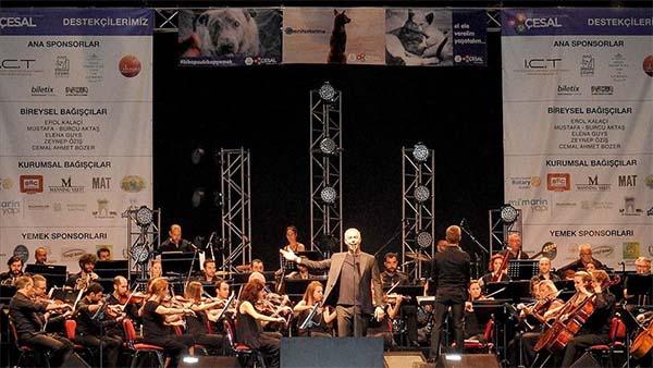 İtalyan tenor Safina sokak hayvanları için sahneye çıktı