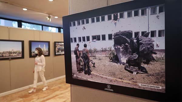 Milli Kütüphane'de AA muhabirlerinin 15 Temmuz fotoğraflarından oluşan sergi açıldı