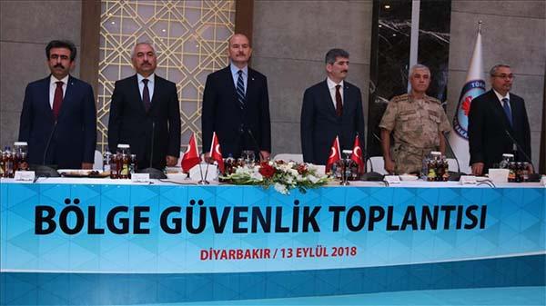 Diyarbakır'da 'Bölge Güvenlik Toplantısı' düzenlendi