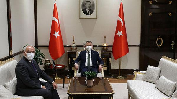 DSP Genel Başkanı Aksakal'dan, Cumhurbaşkanı YardımcısıFuat Oktay'a ziyaret