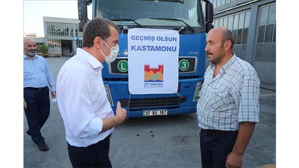 Zeytinburnu'ndan sel felaketinin yaşandığı Kastamonu'ya yardım tırı gönderildi