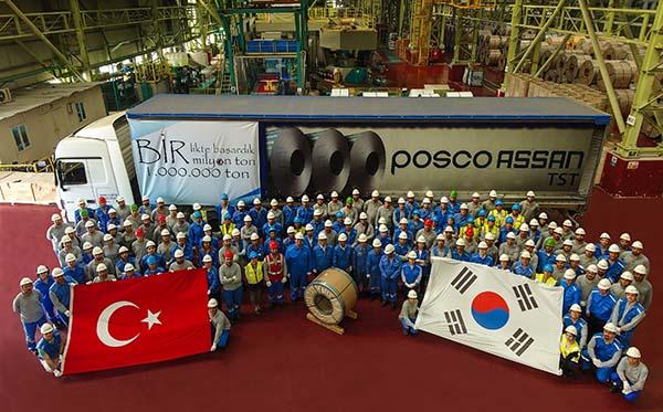 Posco Assan'dan 1 milyon ton yerli üretim