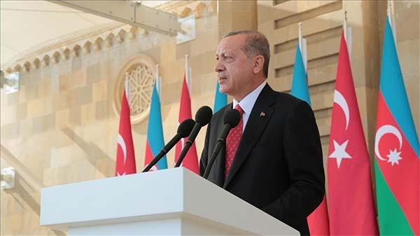 Cumhurbaşkanı Erdoğan: Azerbaycan'a her türlü desteği vermeye devam edeceğiz