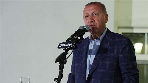 Cumhurbaşkanı Erdoğan: Kuzey Kıbrıs'taki kardeşlerimizin hakkını kimseye yedirmeyiz