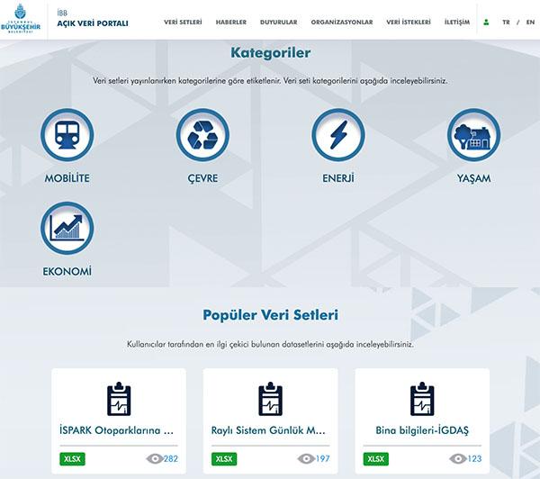 İstanbul Büyükşehir Belediyesi Açık Veri Portalı hizmete sunuldu