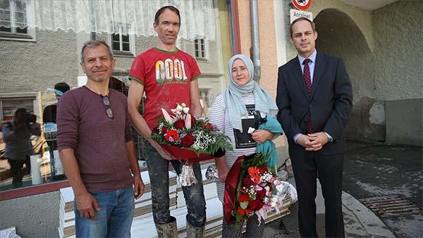 Avusturya'da sel mağduru Türk çift yaşadıklarını anlattı