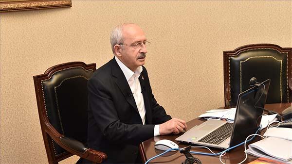 Kılıçdaroğlu, CHP'li büyükşehir belediye başkanlarıyla 'Kovid-19' toplantısı yaptı