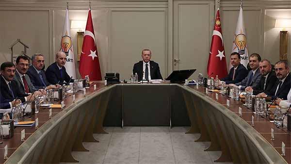 AK Parti MYK toplantısı sona erdi