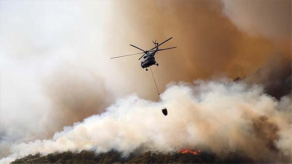 21 ilde çıkan 63 yangının 43'ü kontrol altına alındı