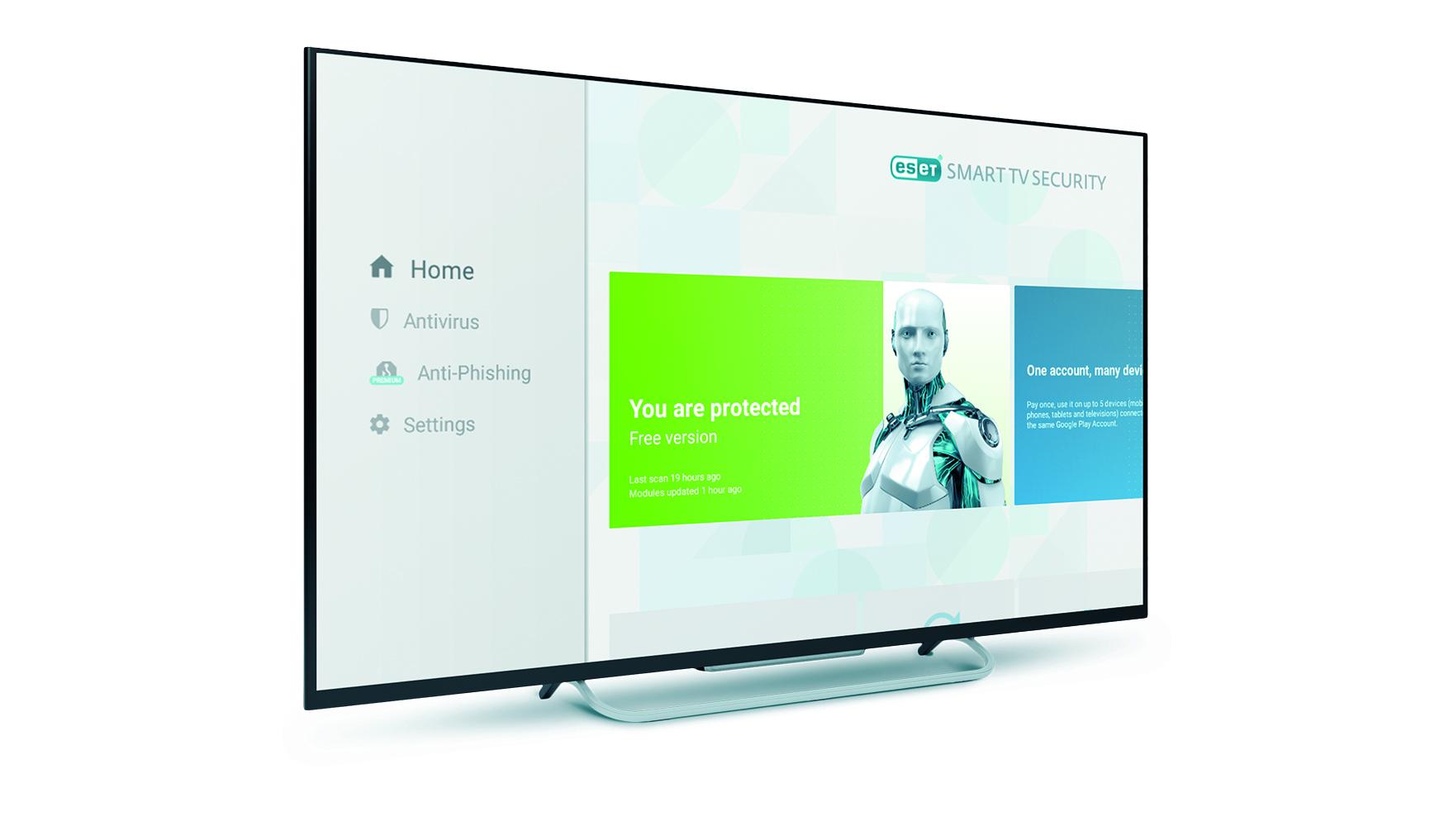 ESET'ten bir ilk : Akıllı TV için antivirüs
