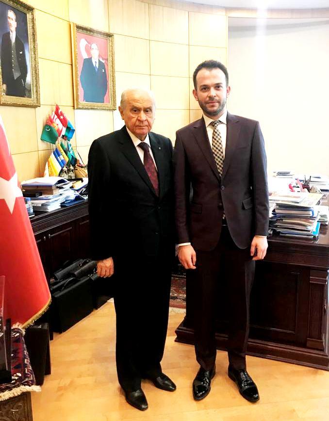 MHP İlçe Başkanı Algan Mehmet Azar'a Başarı Diledi