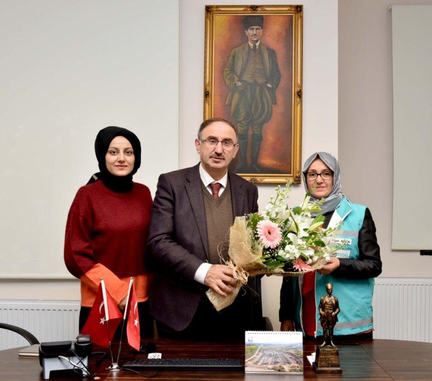 Başkan Kurtulan'a EVSAD ziyareti