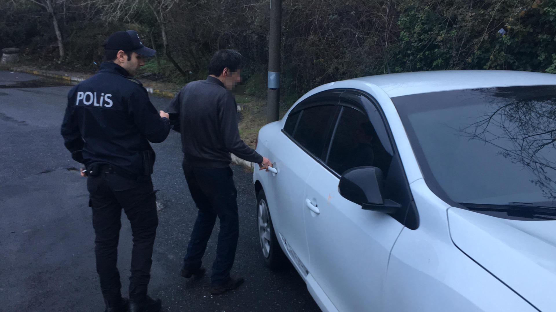 Beşiktaş'ta otomobilde darp edilen kadını çığlıkları kurtardı