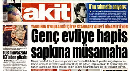 Akit''i 10 Kasım''da mide ağrısı tutuyor... Yine aynısını yaptı!