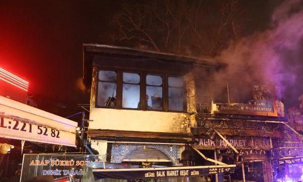 Bursa''da tarihi binada yangın