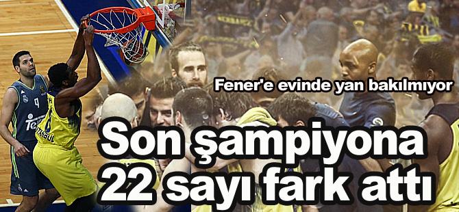 Fenerbahçe'den Real Madrid'e tarihi fark