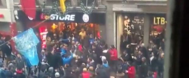 İstiklal Caddesi''nde inanılmaz görüntüler! Mağaza kepenk kapattı...