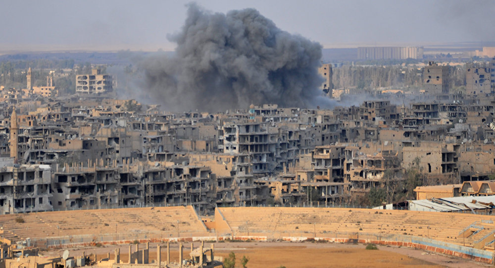 Deyr ez Zor'daki konut bölgesine hava saldırısı!