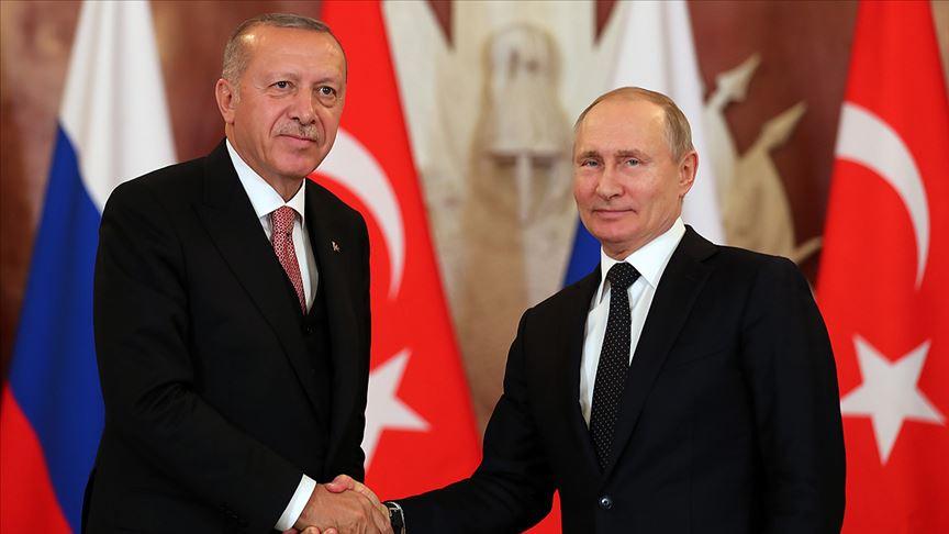 Cumhurbaşkanı Erdoğan, Putin ileLibya krizini görüştü