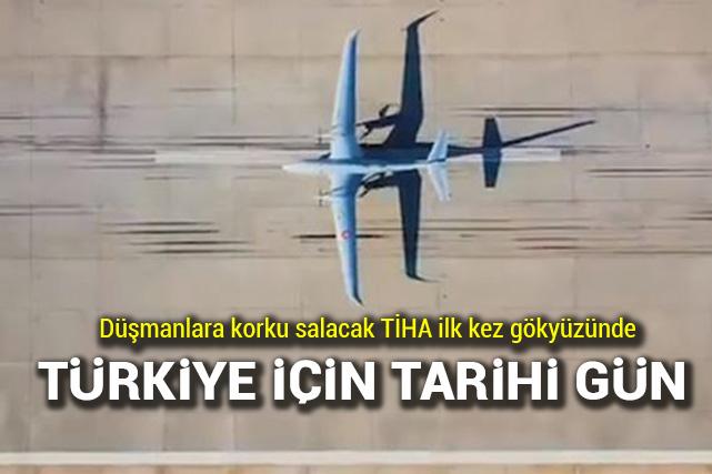 Akıncı TİHA, ilk uçuş testini gerçekleştirdi ile ilgili görsel sonucu