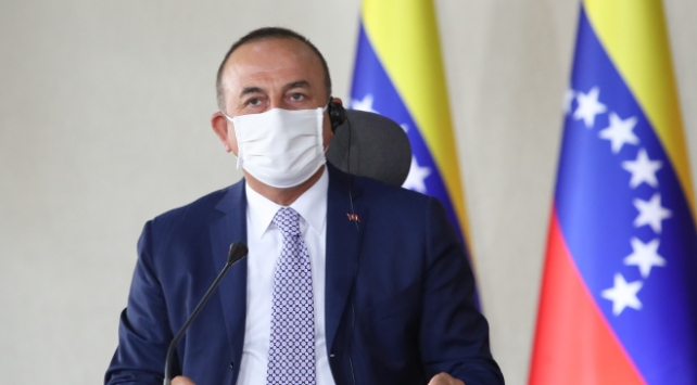 Bakan Çavuşoğlu'ndan Venezuela'ya destek mesajı!
