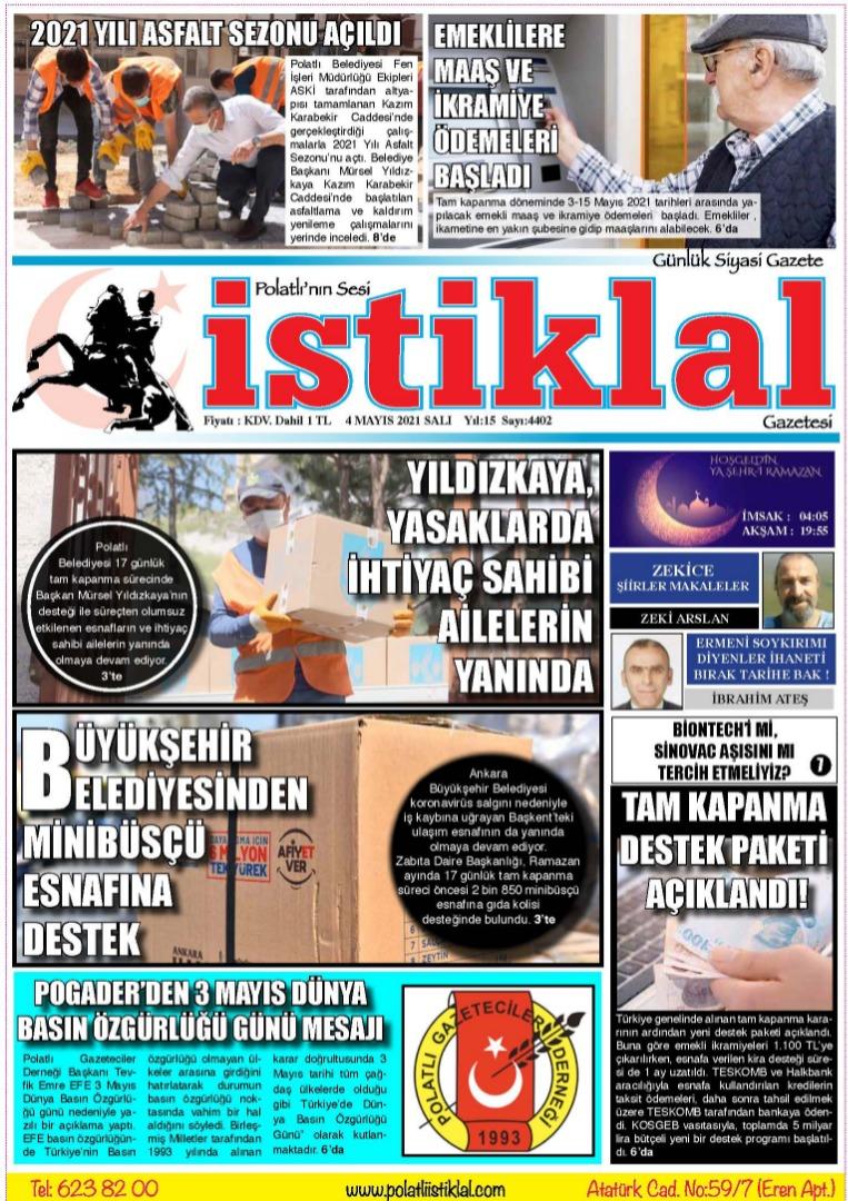 4 Nisan İstiklal Gazetesi