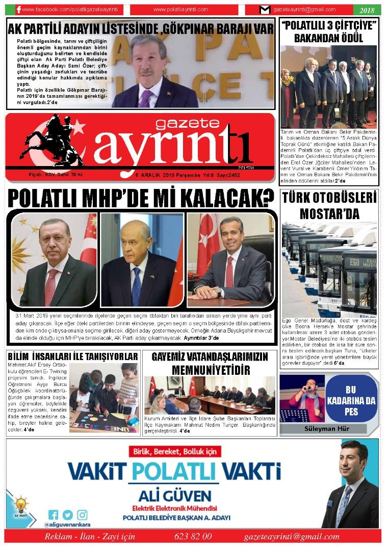 6 Aralık Gazete Ayrıntı