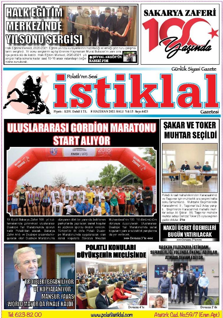 8 Haziran İstiklal Gazetesi