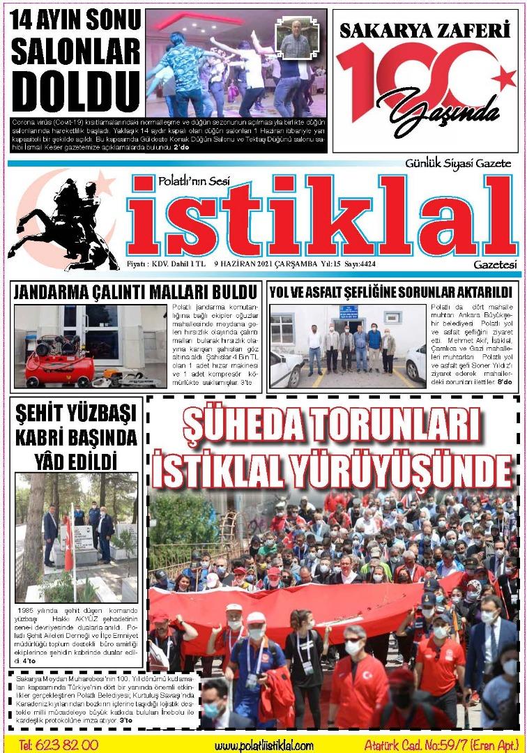 9 Haziran İstiklal Gazetesi
