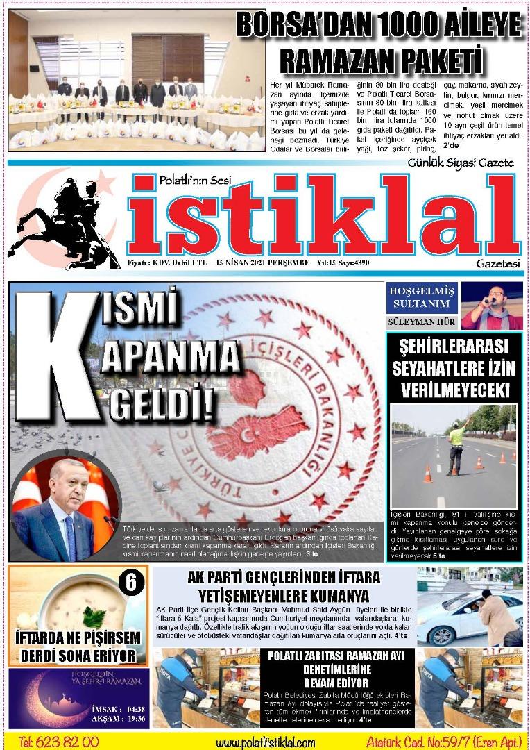 15 Nisan İstiklal Gazetesi