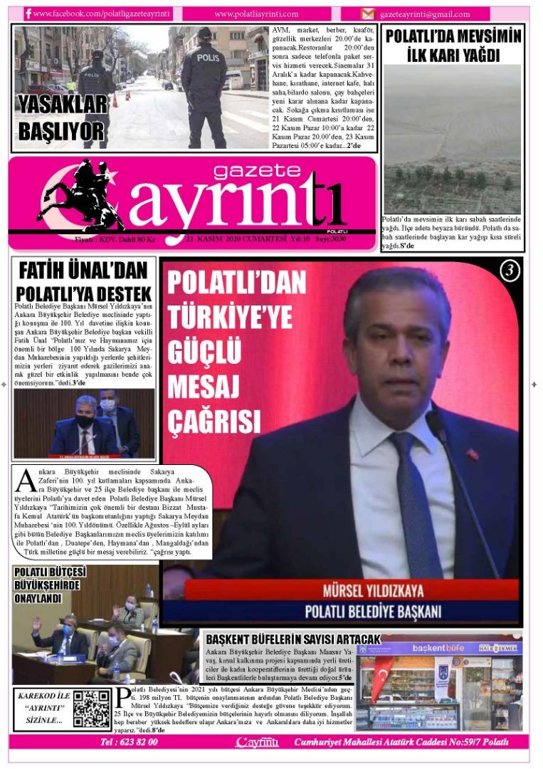 21 Kasım Gazete Ayrıntı