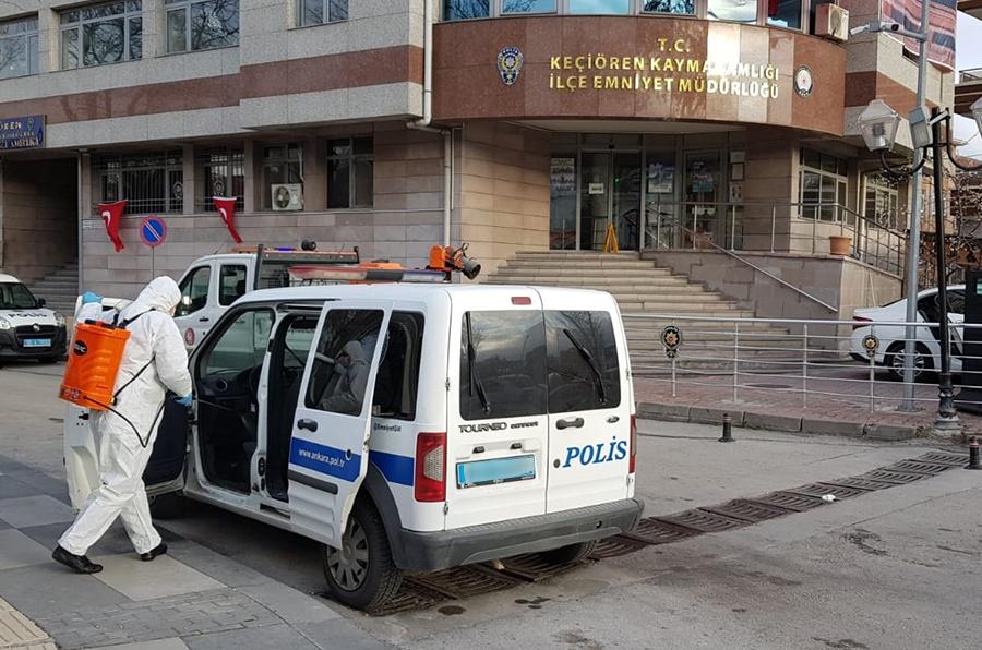 Başkan Altınok: 60 Polis Aracını Dezenfekte Ettik