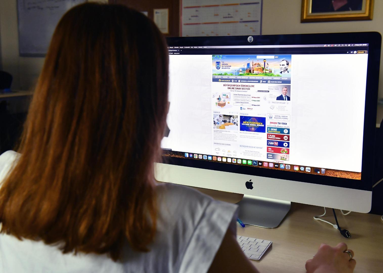 Büyükşehir Belediyesinden öğrencilere online sınav desteği