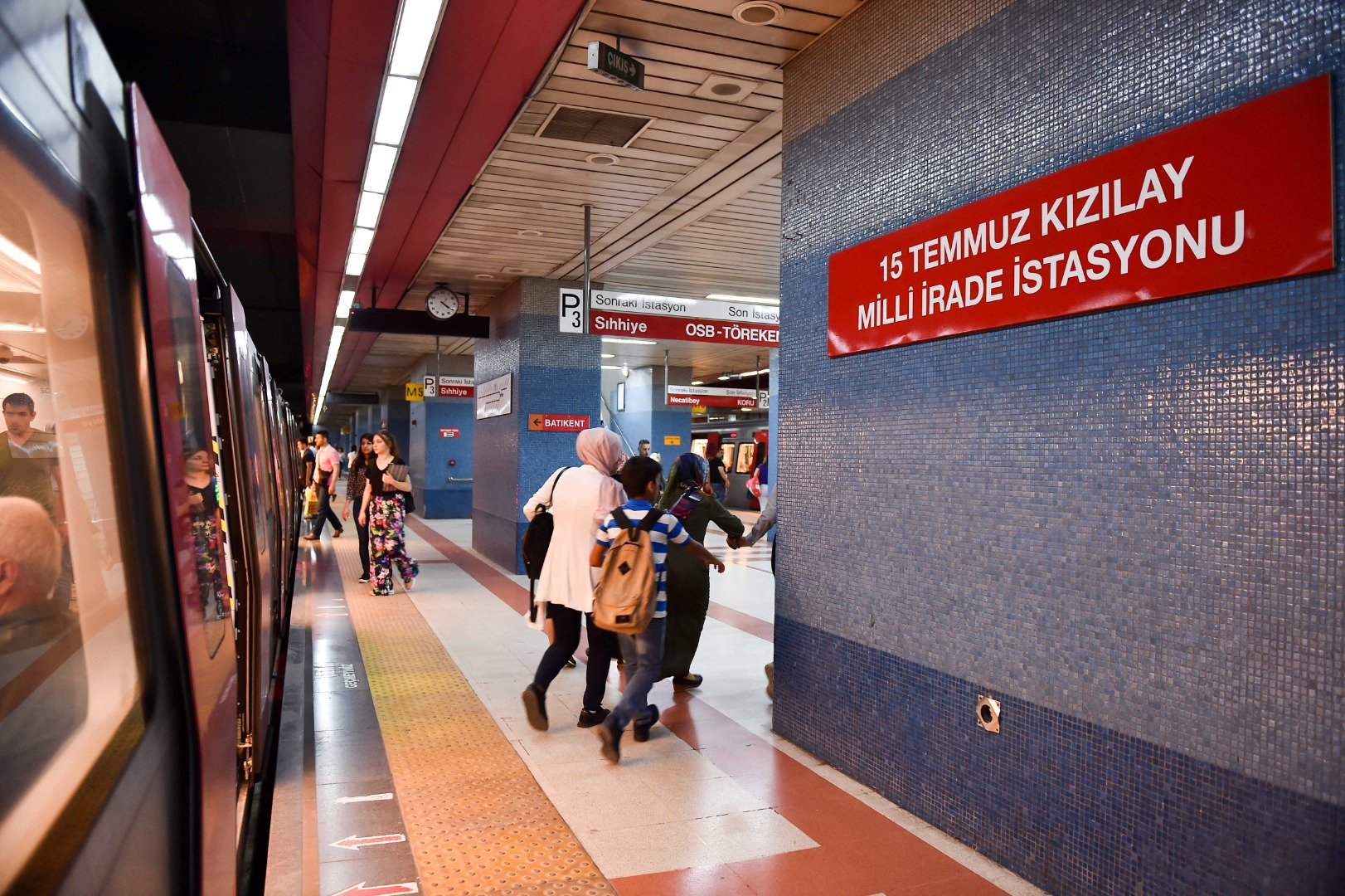 Metroda çalışanlara