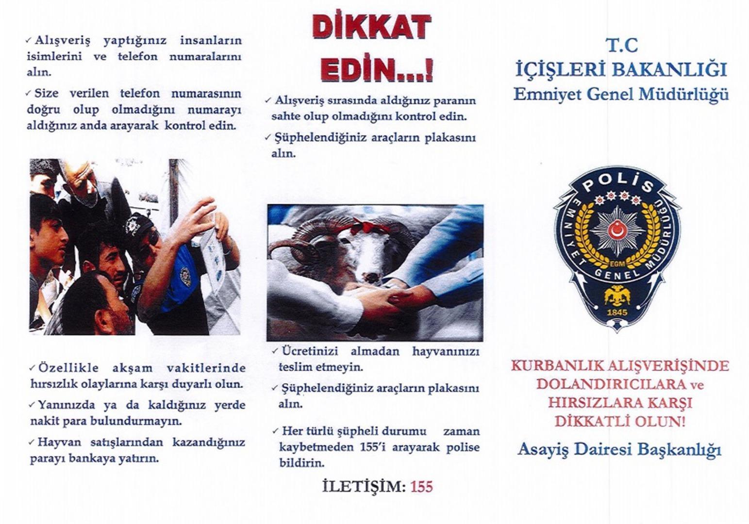Polis dolandırıcılara karşı kurban satıcılarını broşürlerle bilgilendiriyor