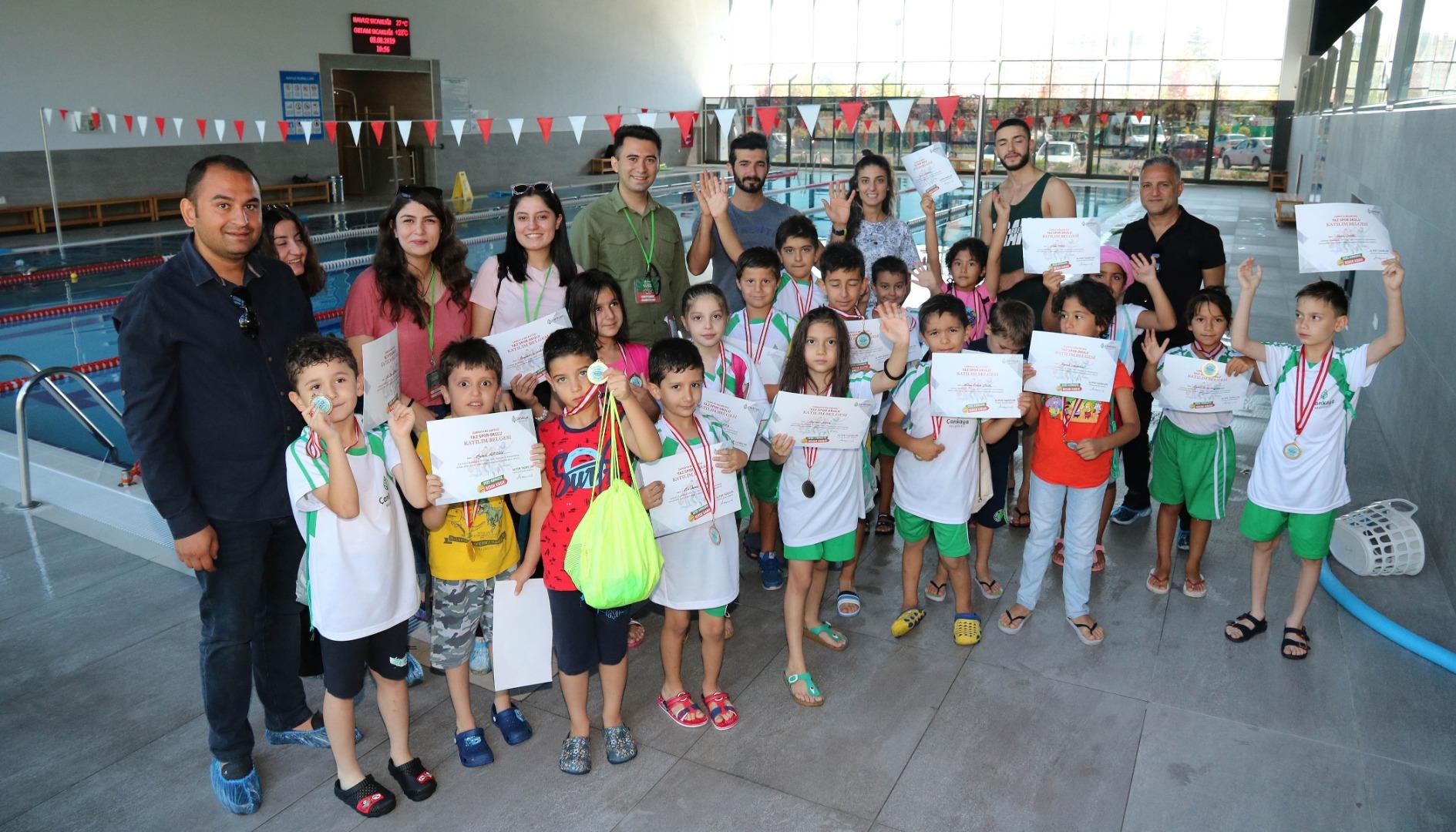 Çankaya'da çocuklar yaz tatilini sporla geçirdi